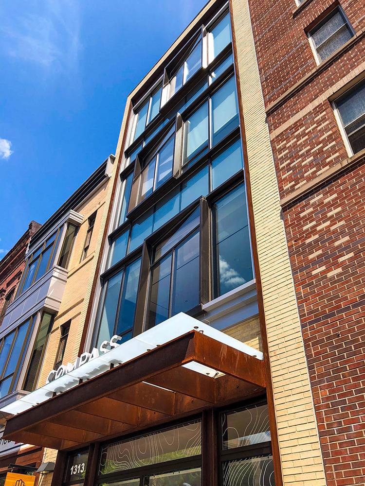 1313 14th Street - Compass - Unique Angled Glass Windows