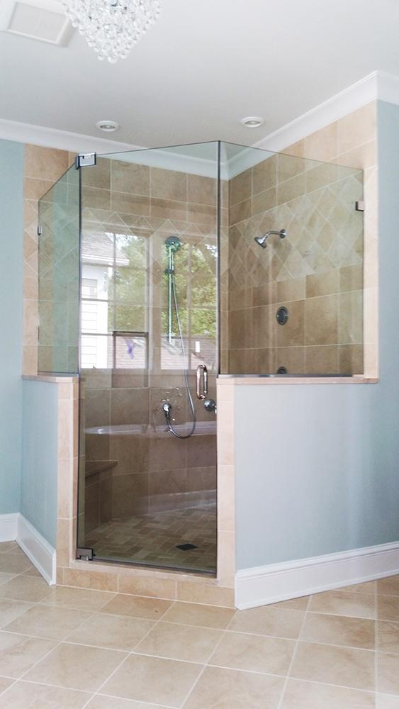 Corner Walk-in Shower Door