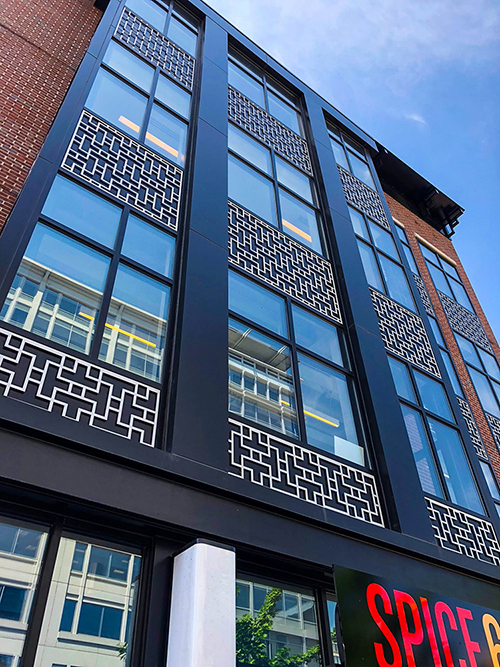 740 6th Street - Spice 6 Indian Restaurant - Building Glass Windows
