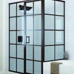 Glass Shower with Rectangular Frames