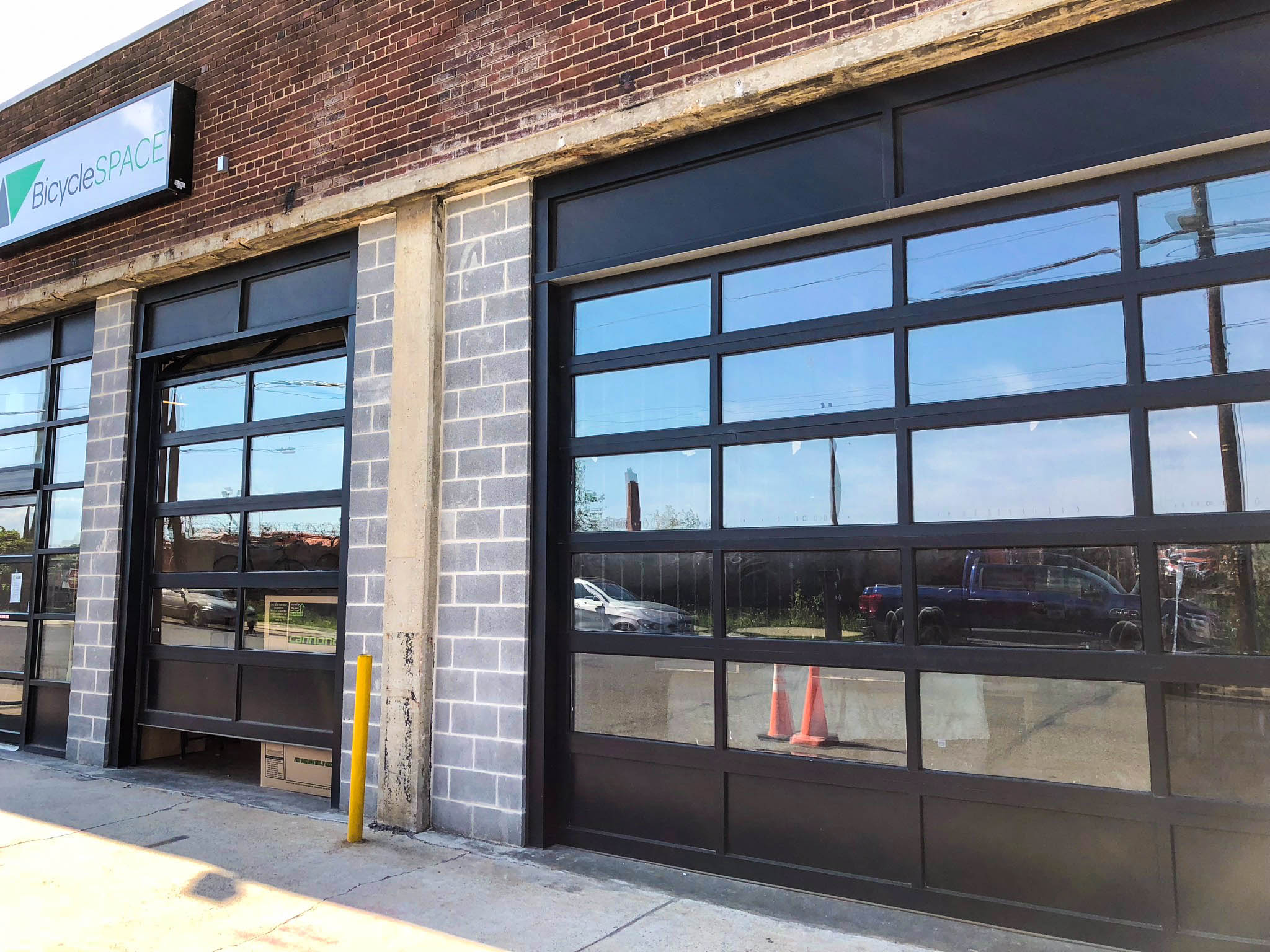 Hect Warehouse - Bicycle Space front windows