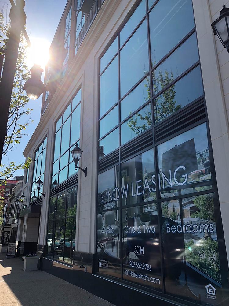 501 H Street   Commercial Building - Glass Windows - Studio Apartment Leasing