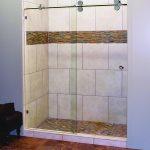 Walk-in Shower with Fancy Tiles