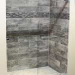 Walk-in Shower with Stone Tiles