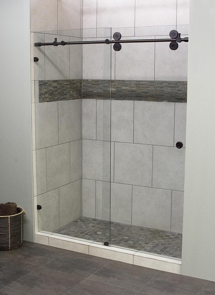 Walk-in Shower Glass Door & Frame