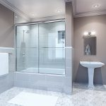 Shower/Tub with Glass Doors