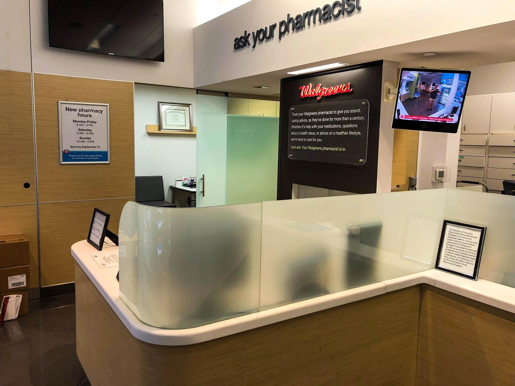 Walgreens - Pharmacy counter