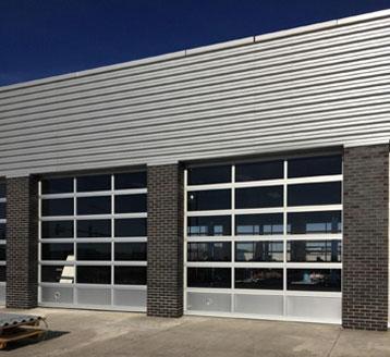 Aluminum Full-View Garage Doors