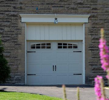 Stamped Carriage House Door