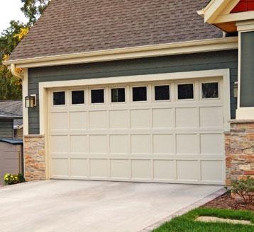 Overlay Recessed Panel Garage Door